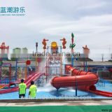 Swimming pool fiberglass water slide for kids play house