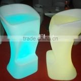 16 colors change led stools Leisure led bar chair with remote control ,Led bar stool high chair