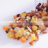 Flavored dried fruit mix tea