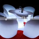 2017 Trade Assuranced Hot Sale outdoor color changing RGB LED Plum Blossom bar Table Set Designs