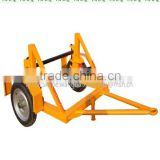 cable drum trailer,Mechanical hand operated loading winch