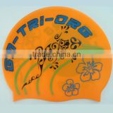 High quality waterproof oem silicone swimming cap