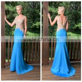 night gown v neck prom party lace bead embroidered evening dress