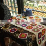 fancy new north European design flower table cover sets hand crochet cup mat