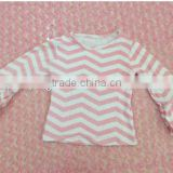 100% cotton hot sell long sleeve top with ruffles