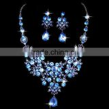 zm33254a beautiful women drop earrings simple bridal necklace jewelry set