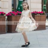 latest design fashion lovely ball grown dress for baby girl summer dress for girl ruffle skirt sleeveless