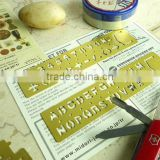 Brass bookmark/DIY drawing templates/Hollow out ruler for Planner,Scrapbook, handbook