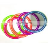 Wholesale Neon Color Elastic Spring Ponytail Holders Plastic Thin Telephone Wire Hair Band