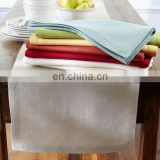 linen/cotton table napkin/table runner with hemstitch solid color for wedding/restaurant/hotel/wholesale