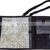 Black WATERPROOF MAP CASE military hiking pouch bag