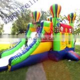 New design outdoor nice inflatable castle with slide for kids CC072