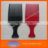 Plastic fork hair comb for hair dressing