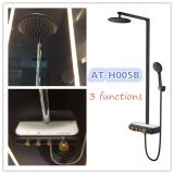 black colour 3 functions thermostatic shower faucets AT-H005B FOSHAN factory