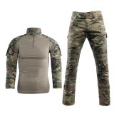 6-Colors Knitted Army Military Combat H Frog Sleeve Tactical Shirt suit