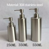 Hotel bathroom Use Multi Capacity 304 Stainless Steel Hand Wash Bottle Shower Gel Bottle soap dispenser