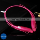 2014 Hot Selling Universal Wireless Bluetooth Handsfree Headset Earphone HBS-730 for pink color