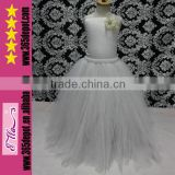 Length To The Ankle Kids Flower Girl White Party Dresses Tulle Dress