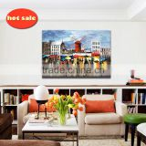 Abstract Modern Textured Canvas Oil Painting modern city scenery YB-137