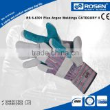 RS SAFETY High impact protective gloves double palm leather work glove Leather working glove