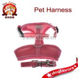 Pet Puppy Safety Dog And Large Dog Harness Leash Collar Mesh Strap Vest Soft Chest Pink