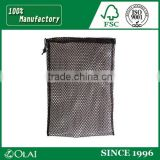 Durable high- end black polyester mesh laundry bag with custom logo