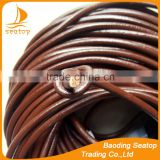 5mm stingray round leather cord wholesale