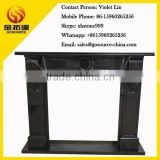 shanxi black granite fireplace polished