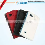 For LG P880 Optimus 4X HD cell phone folio genuine leather case cover