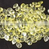 AAA Beautiful Natural Green Gold Lemon Topaz Cabs Pear Shape 10X8mm Loose Gemstone Beads Bead Cabochon Beads