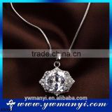 Factory supply 2016 fashion China Jewelry Wholesale High Quality Ladies Sparkling crystal diamond silver necklace N0090