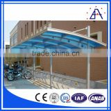 Aluminum Double Carport With Polycarbonate Roof for Two Car Parking