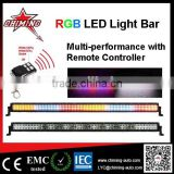straight 50inch Rgb Strobe 288w Led Light Bar Remote Control Flood/spot Led Light Bar For Truck Jeep Rv Suv Atv 4x4