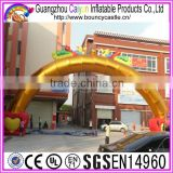Hot sales Gold Inflatable Archway Inflatable Advertising Arch Door for party wedding events