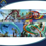 outdoor swimming pool water park EXCITING adults spiral water slide