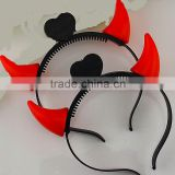 LED Flashing headband Light up Small devil horn hair band Easter Halloween Christmas Party Costume