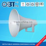 OBT PA waterproof 50w loudspeaker, aluminum 100v high power horn speaker for stadium, playground, railway