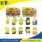Hot sell delicate multicolor 5PCS different styles vinyl toy