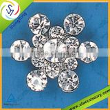 NEW fashion acrylic rhinestone buttons crystal flower rhinestone button cheap rhinestone buttons