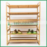 natural color recyclable source bamboo cheap shoe rack wholesale flexible vertical shoe rack