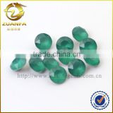 Zuanfa Gems 5mm green round brilliant cut glass stones ,bulk cut gemstones wholesale gemstone