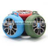 Special tyre shape design bluetooth speaker, promotion gift tire shape mini speaker, low price wireless speaker