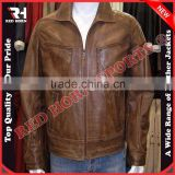 Genuine Leather Slim Fit Leather Jacket, Brown Fashion Jacket