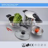 100% safety guarantee stainless steel commercial pressure cooker ASA with long bakelite handle