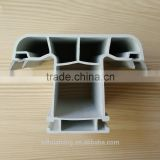 T shaped pvc co extrusion profile plastic for door, strong anti-UV white upvc profile, china supply