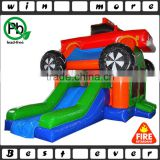 commercial party used indoor and backyard monster truck inflatable combo castles for kids and adults