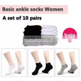 [Sihyun]Women Basic ankle cotton sock 10pair/ low cut