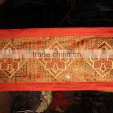 indian handmade mirror work wall hangings