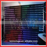 HOT WLK-1P18 Black fireproof Velvet cloth RGB 3 in 1 leds vision background led video wall nightclub