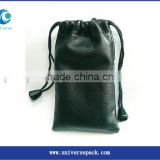 Custom pu leather golf ball bag with brand name
